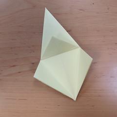วิธีพับกระดาษเป็นดอกกุหลายแบบเกลียว 012