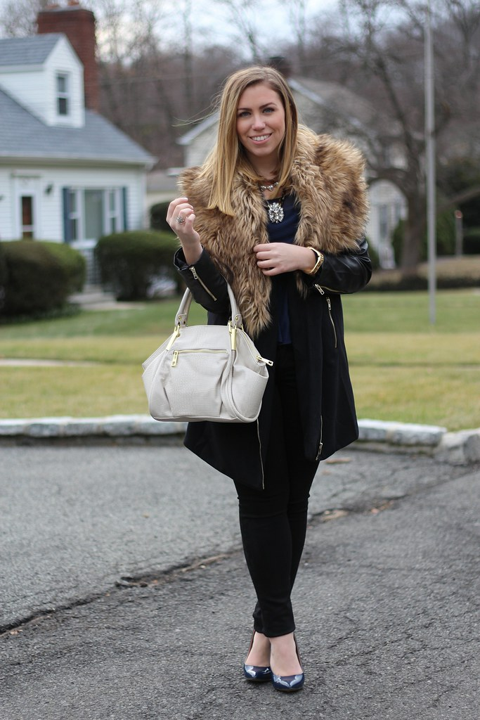 Wearing Black, Blue & Fur with mark.girl's New Classic Hit Handbag on Living After Midnite