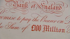 Bank of England 100 million pound note