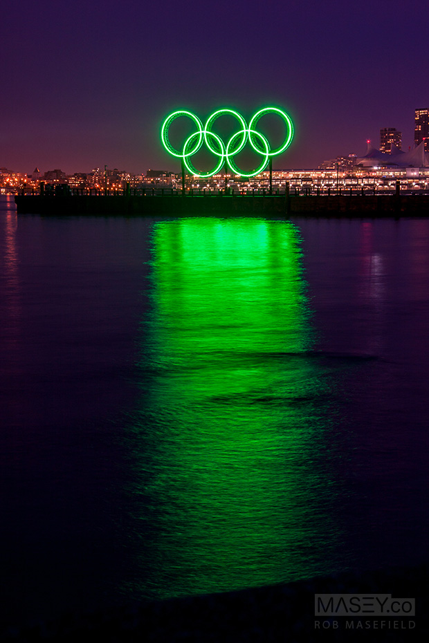 The rings from the edge of Stanley Park.