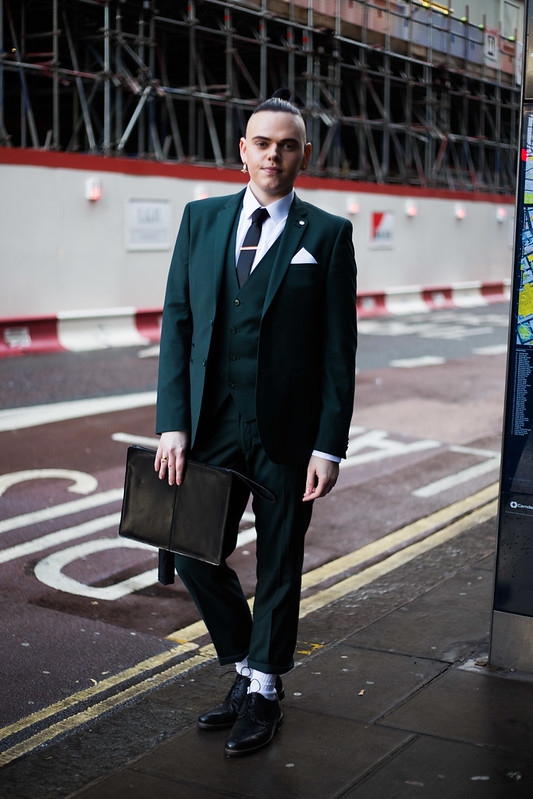 Street Style - Joshwa St James, London Collections: Men