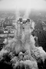 AFE Turm Sprengung / AFE tower demolition Frankfurt Germany - 12