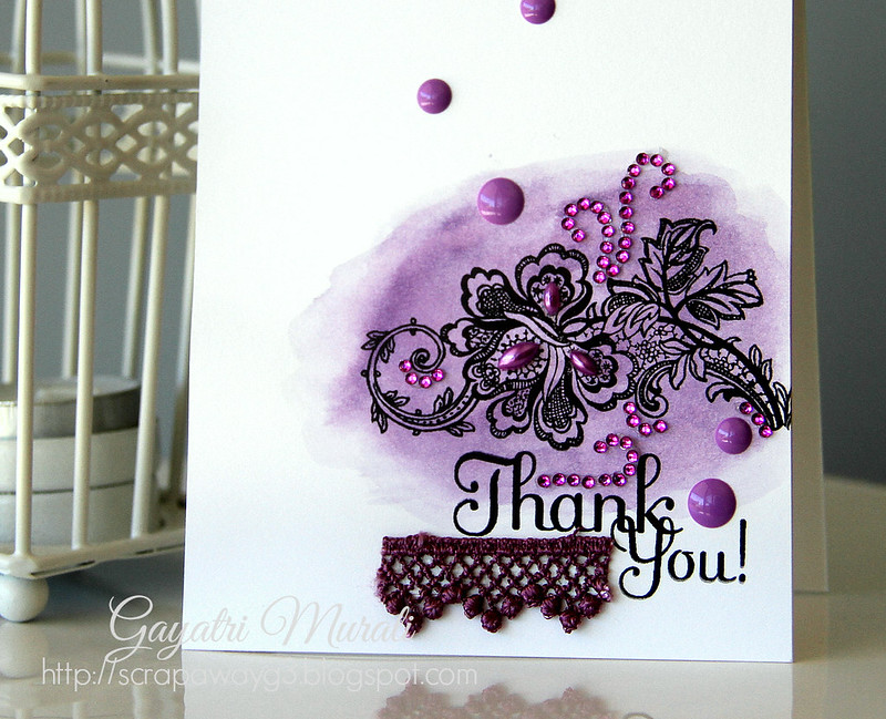 Thank you card closeup!