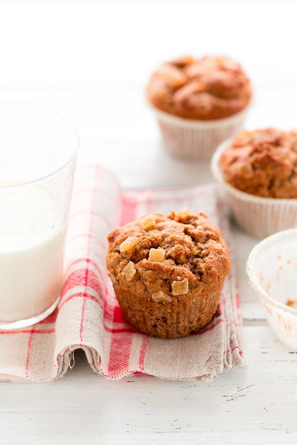 Muffins con zenzero candido
