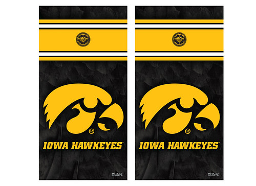 Iowa Cornhole Game Decal Set