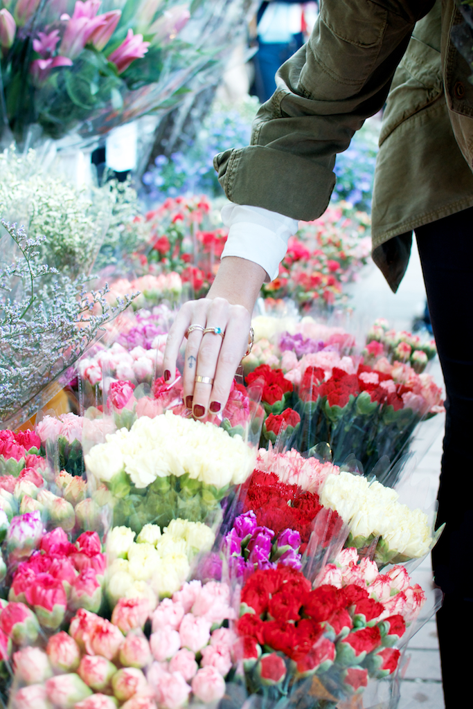 Picking the best market flowers with