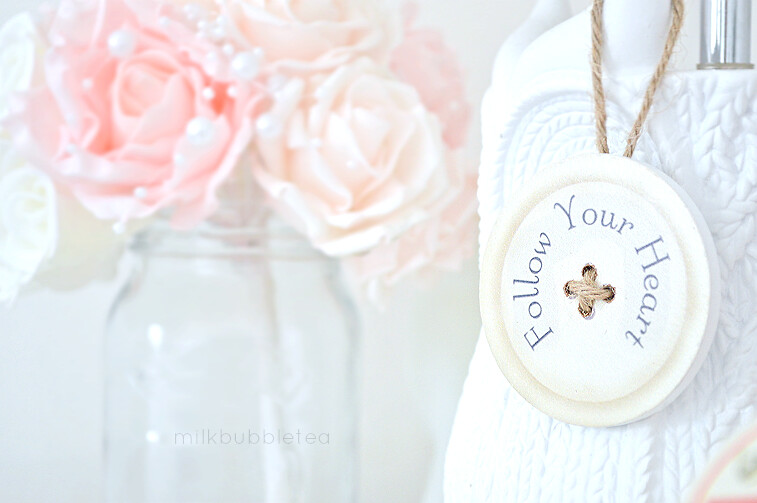 follow your heart button trinket milk bubble tea blog