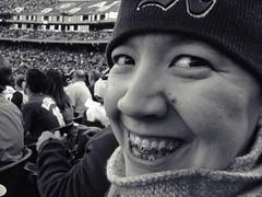 Amanda at Oakland A's game
