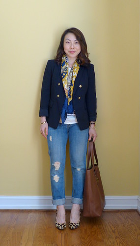 blazer + jeans