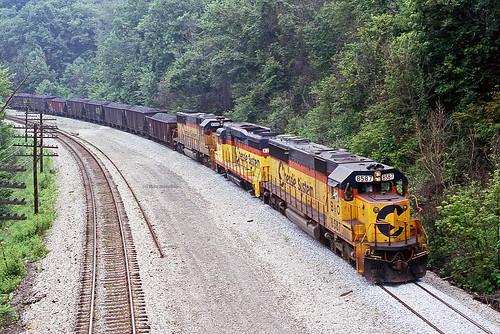 railroad train bo coal chessie csx emd beavervalley coaltrain ple chessiesystem baltimoreohio sd50 unittrain beaverfallspa pittsburghlakeerie chessiecat bo8587 chessie8587