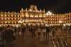 Romantic evening mood at the Plaza Mayor