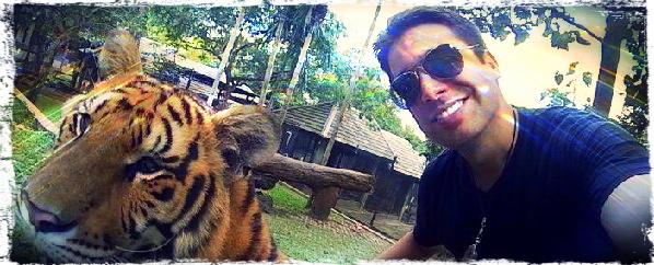 Nômade Digital no Templo dos Tigres, Tailândia - Marcus Lucas