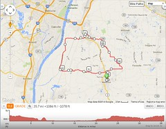 Bike ride 5-5-14 map
