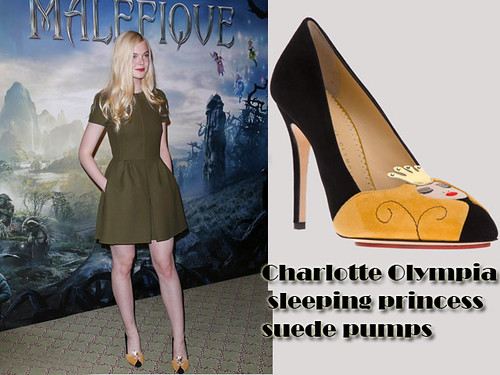 Charlotte Olympia sleeping princess suede pumps