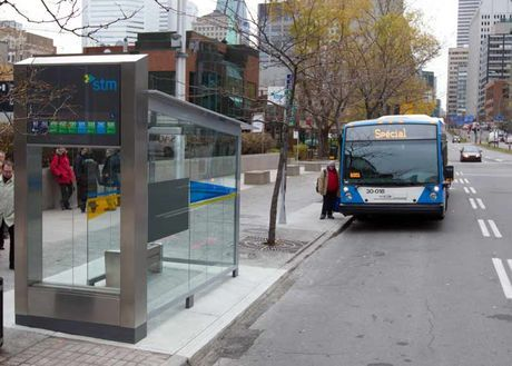 A prototype of the new STM bus shelter