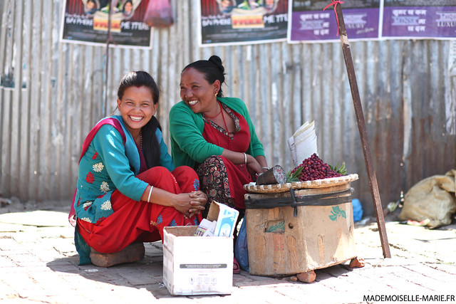 Street life in Kathmandu, Nepal.