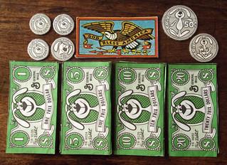 Vintage 1972 General Mills TRIX cereal box play money