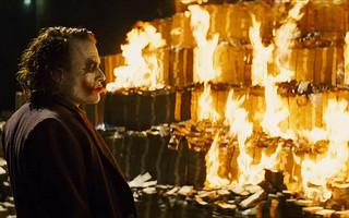 Joker burning prop cash