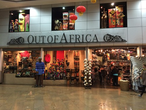 Out of Africa store in the Johannesburg airport