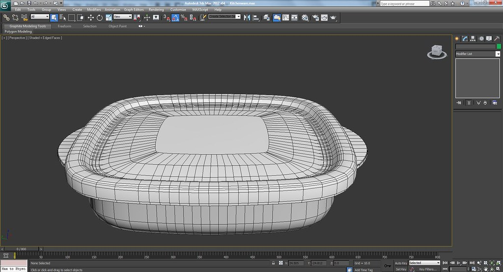 3d Kitchenware Work In Progress Wire Frame Screenshots
