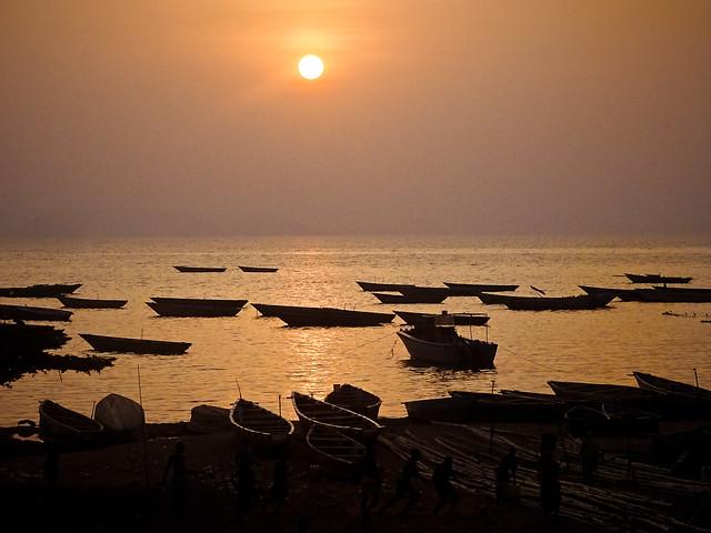 Sunset over Lake Tanganyika