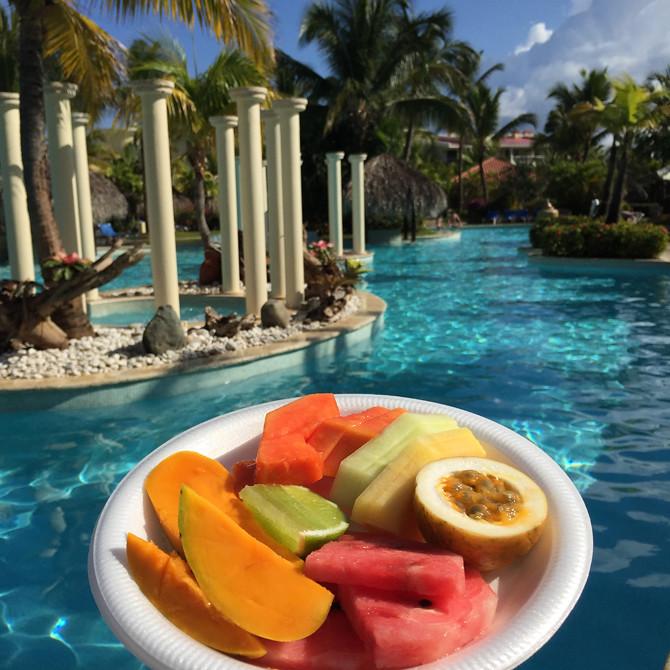 melia caribe pool fruit