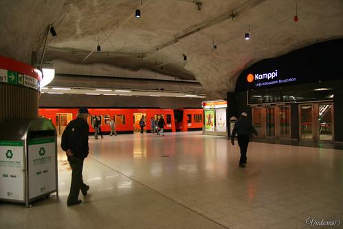 Kampi subway station. Helsinki. Finland