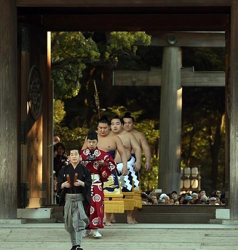 Nghi lễ chào năm mới của những đại võ sĩ Sumo Nhật Bản