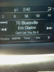Listening to Eric Clapton on B.B. King Bluesville on Sirius XM.
