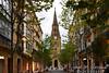 San Sebastián/Donostia – Catedral del Buen Pastor desde la calle Loiola.