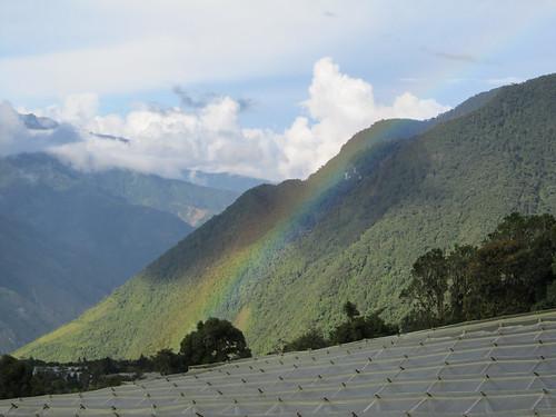 Baños: arc-en-ciel sur la colline