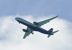 Aeroflot A330 on final approach to Male Airport