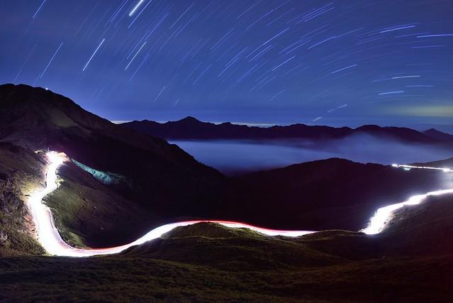 Star trails at Mountain Hehuan 合歡山星軌