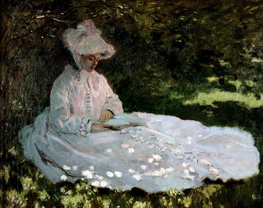 A Woman Reading by Claude Monet, 1872
