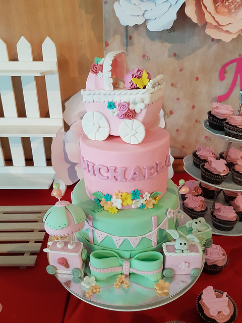 Whimsical Theme with Carriage Christening Cake by Rachelle Ann Casanova of Sweet Patissier by Ann