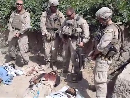 Marines pee on dead taliban