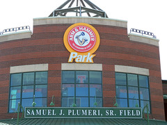Arm & Hammer Park sign