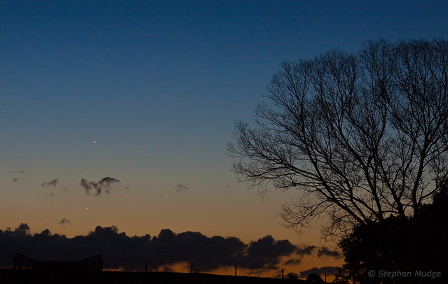 Jupiter Mercury and Venus, 27May13 #1