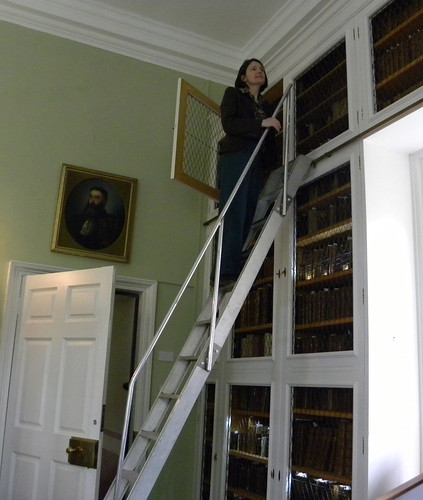 Lara at Innerpeffray Library