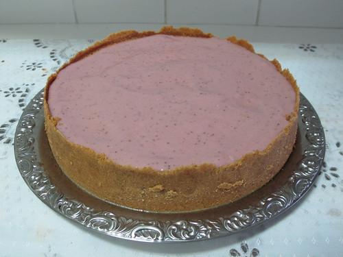 Cheesecake de Ricota com Creme de Morango