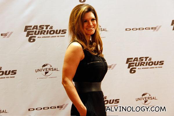 Gina Carano smiling