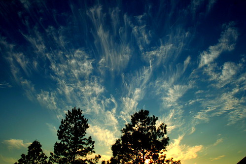 sunset sky weather clouds cirrus