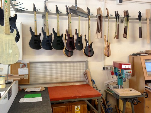 Mayones guitars and basses waiting for more luthier love