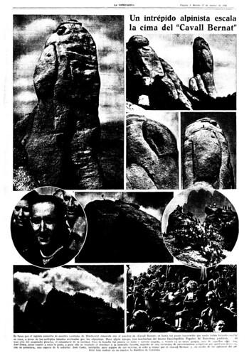 Ascensión al «Cavall Bernat» marzo de 1936. by Octavi Centelles