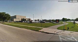 Warehouse? No, a high school in Illinois (via Google Earth)
