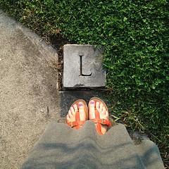 Ell. #cemetery #alphabet #lisforLewes #Snapseed