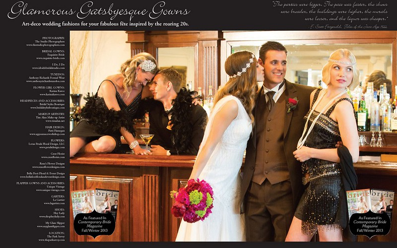 Contemporary Bride Great Gatsby-Inspired Editorial featuring Bridal Styles!
