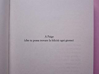 David Levithan, ogni giorno. Rizzoli 2013. Progetto grafico di copertina © Adam Abernethy. Pagina dell'esergo (part.), 1