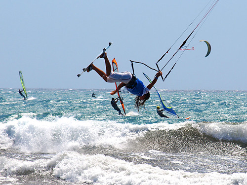 Kiteboarding, El Medano, Tenerife