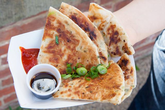 Scallion pancake, Outer Borough